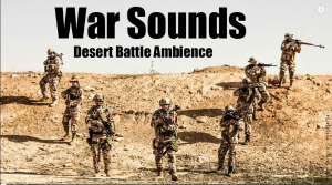 War Sounds Desert Battle