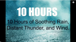 10 Hours Soothing Rain Distant Thunder, Wind
